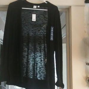 New w/ tags Gap true black  cardigan size small